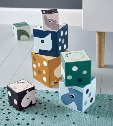 Εικόνα της Παιχνίδι Stacking Cubes - Deer friends