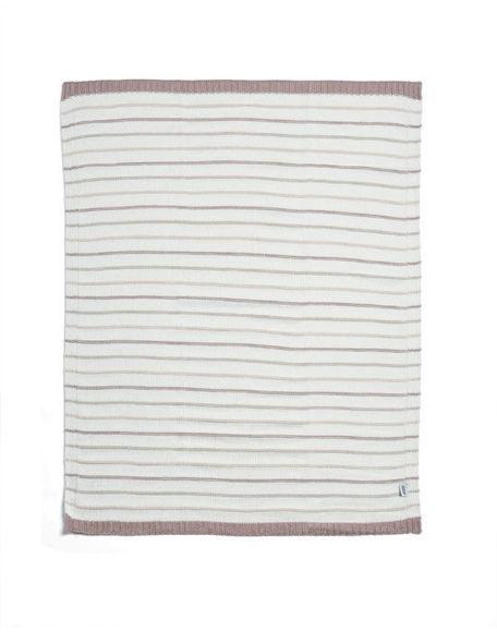 Εικόνα της Κουβέρτα Πλεκτή Mamas & Papas Pink stripes