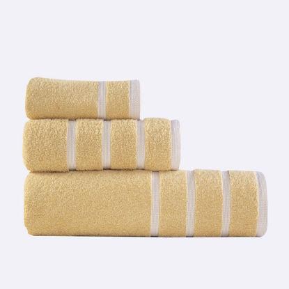Εικόνα της Πετσέτες Μπάνιου (Σετ 3τμχ) Nef-Nef Madison Yellow/White