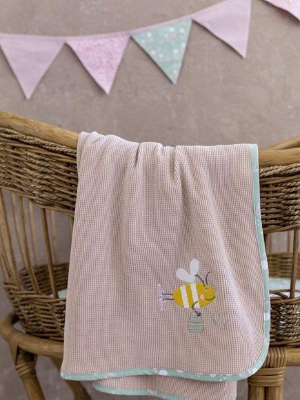 Εικόνα της Κουβέρτα Πικέ Bumblebee 80x110