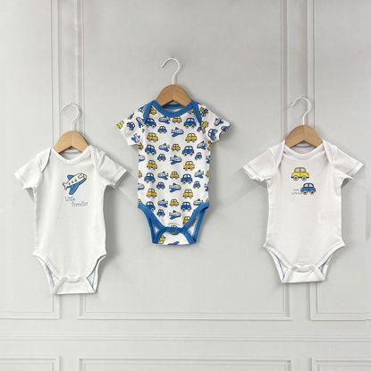 Εικόνα της Σετ 3 κοντομάνικα bodies Traveller ABO 6-9 Μηνών