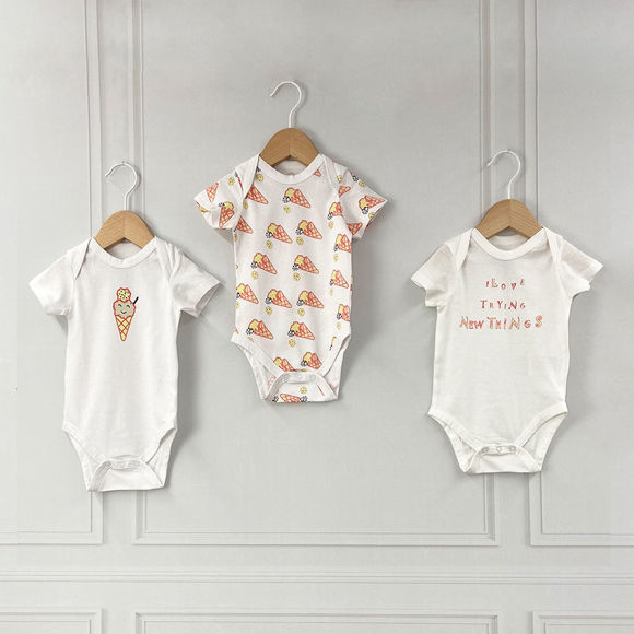 Εικόνα της Σετ 3 κοντομάνικα bodies Candy ABO 6-9 Μηνών