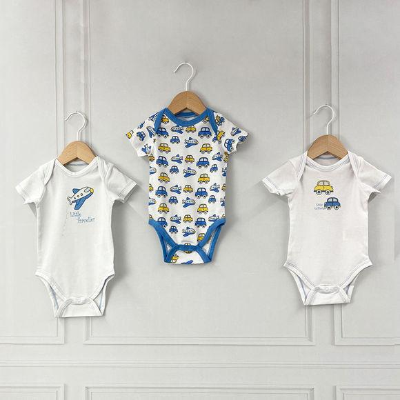 Εικόνα της Σετ 3 κοντομάνικα bodies Traveller ABO 3-6 Μηνών