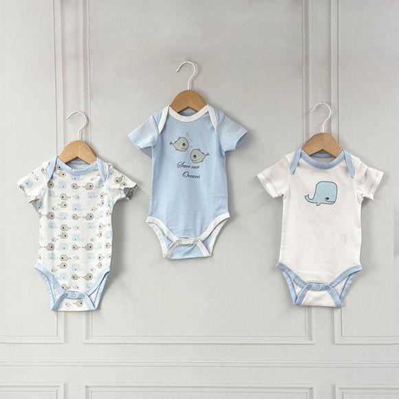 Εικόνα της Σετ 3 κοντομάνικα bodies Willy ABO 6-9 Μηνών