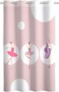Εικόνα της Κουρτίνα SAINT CLAIR Soft-Touch Ballerinas 160×240