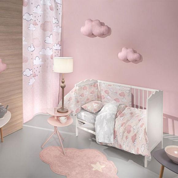 Εικόνα της Guy Laroche Σετ Σεντόνια Κούνιας Cloudy Pinky 3τμχ