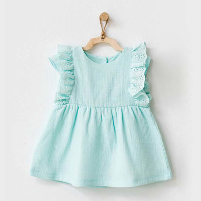 Εικόνα της Φορεματάκι με λεπτομέρειες στο μανίκι Something Pretty 6-9 Μηνών