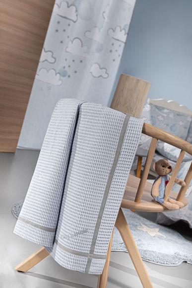 Εικόνα της Κουβέρτα Πικέ Κούνιας 110×140 Guy Laroche Mood Light Blue