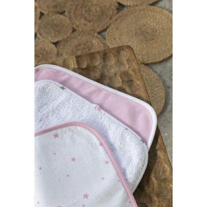 Εικόνα της Σετ Πετσέτες 3 Τεμαχίων Nima Astral Pink 30x30