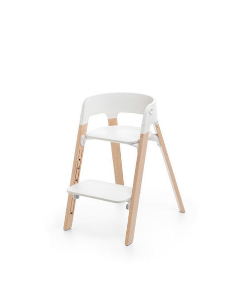 Εικόνα της Κάθισμα Φαγητού Stokke STEPS White/Natural