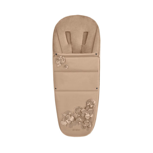 Εικόνα της Cybex Platinum Footmuff Ποδόσακος καροτσιού Simply Flowers Nude Beige