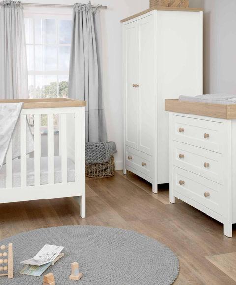 Εικόνα της Βρεφικό Δωμάτιο Keswick White/Oak Mamas & Papas