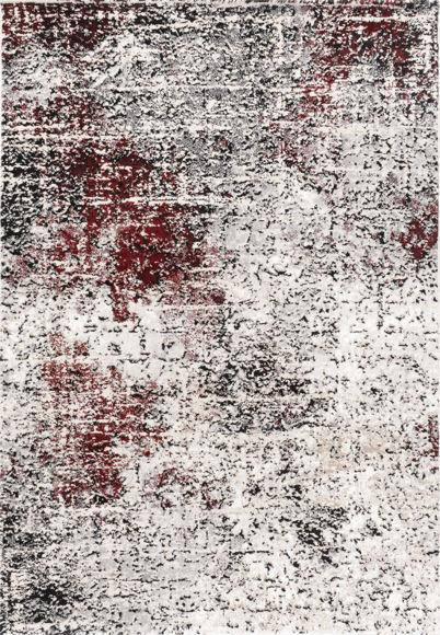 Εικόνα της Χαλί 200x290 Estia 4001 Black Cream Red