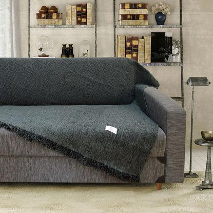 Εικόνα της Ριχτάρι Τριθέσιου Καναπέ Milek 180x300cm Dark Grey Lino Home