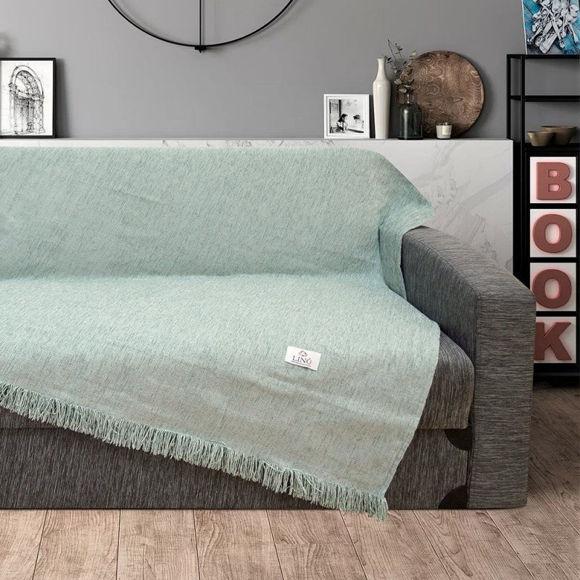 Εικόνα της Ριχτάρι Τριθέσιου Καναπέ Markez Mint Lino Home 180x300cm