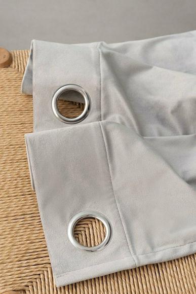 Εικόνα της Palamaiki Κουρτίνα Caldo με Τρουκς 140x260 Silver