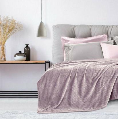 Εικόνα της Guy Laroche Rombus Κουβέρτα Fleece Υπέρδιπλη 220x240 Lilac