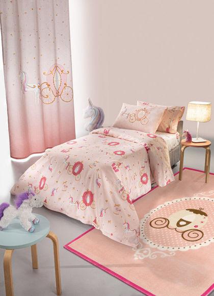 Εικόνα της Saint Clair Παπλωματοθήκη Cinderella Suede  160x220cm
