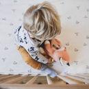 Εικόνα της FLOW. Υφασμάτινη Αλεπού Robin με λευκούς ήχους & μουσική (πορτοκαλί)