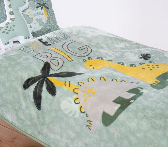 Εικόνα της ΒΡΕΦΙΚΗ ΚΟΥΒΕΡΤΑ ΚΟΥΝΙΑΣ BABY DINO GREEN 100x140