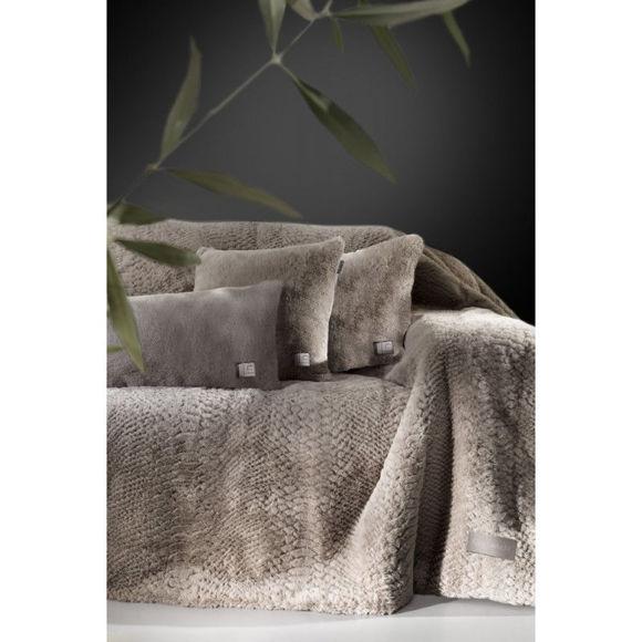 Εικόνα της Σετ Ριχτάρι Διθέσιου και Μαξιλαροθήκη Διακόσμησης Guy Laroche Crusty Mink 170x250