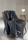 Εικόνα της Σετ Ριχτάρι Διθέσιου και Μαξιλαροθήκη Διακόσμησης Guy Laroche Crusty Carbon 170x250